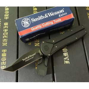 Smith Wession.440C Stainless Steel Blade Metal Handle Tanto Edge Tactical Knife5861