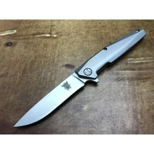 3Cr13MoV Steel Blade Metal Handle Satin Finish Folding Blade Knife Pocket Knife5875