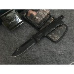 5Cr13MoV Steel Blade Aluminum Handle Black Finish Liner Lock Folding Blade Knife5706