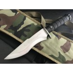3Cr13MoV Steel Blade ABS Handle Satin Finish Fixed Blade Knife with Nylon Sheath5977