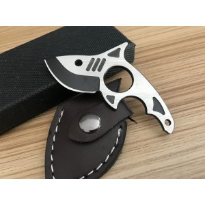 5Cr15MoV Steel Blade Fish Shape Fixed Blade Knife Defensive Knife6020